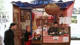 La Petite Creperie booth, corner Swanston St & Ltl Collins St, Melbourne CBD
