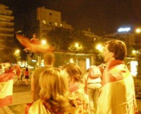 Paseo de la Castellana - the night of the 2010 World Cup Final