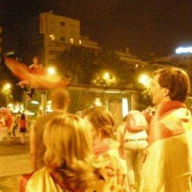 Paseo de la Castellana - the night of the 2010 World Cup Final