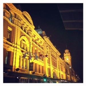 christmas Melbourne Flinders st