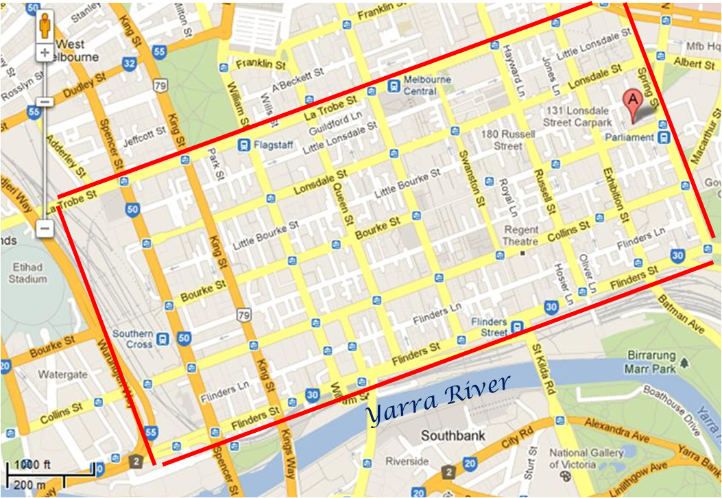 Map Melbourne Cbd Melbourne CBD Map | La Vale and Her World