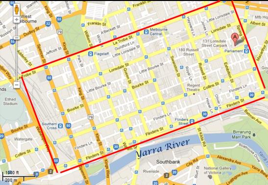 Melbourne CBD Map