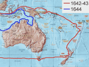 Abel Tasman Routes (source: wikipedia)