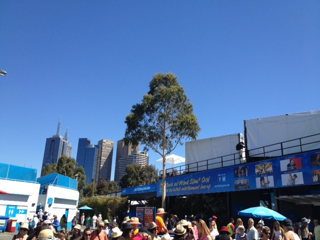 View of Melbourne from The Australian Open 2013
