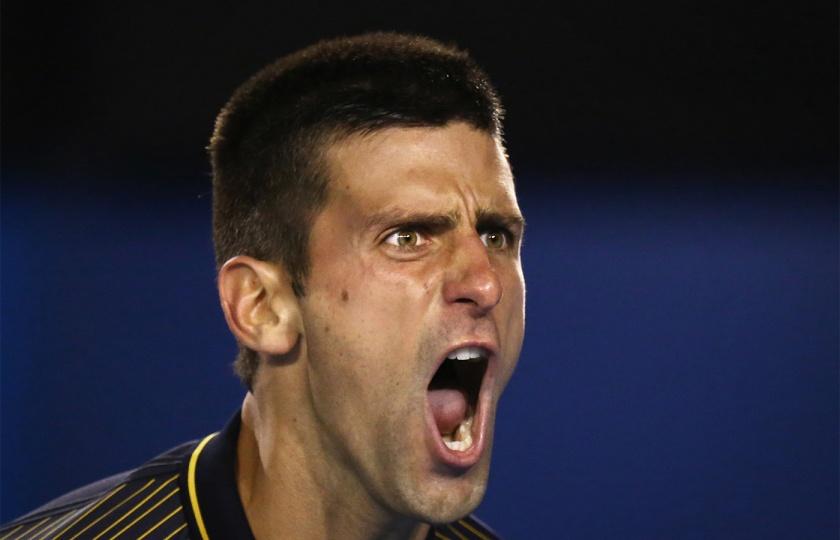 Djokovic vs Wawrinka @AustralianOpen2013 on 20th January