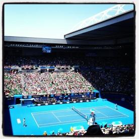 Ferrer vs Nishikori_Rod Laver Arena_Australian Open 2013