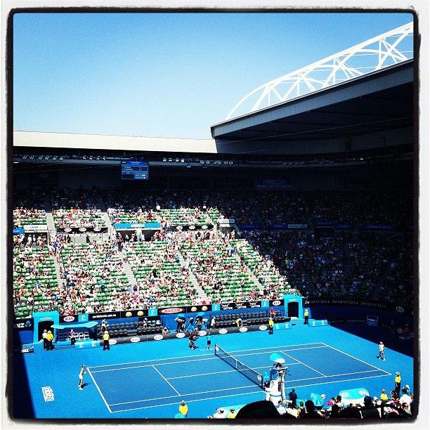 Sharapova vs Flipkens_Rod Laver Arena_Australian Open 2013