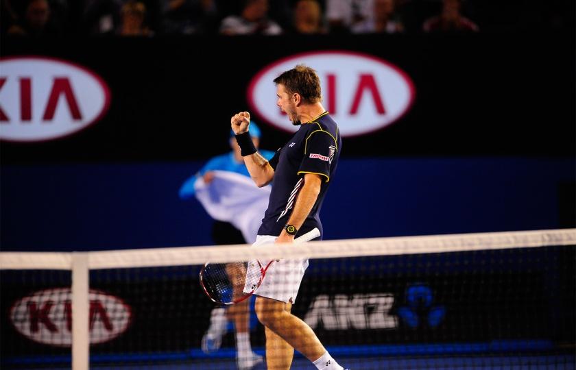 Wawrinka vs Djokovic  @AustralianOpen2013 on 20th January