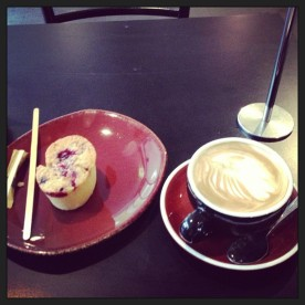 Delicious 'Friand' at the 'in a rush cafè', Melbourne, Docklands