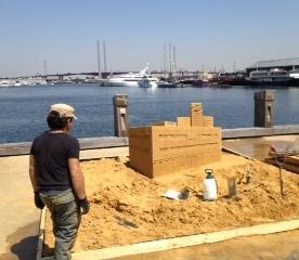 Sand Sculpture: Lend Lease Building