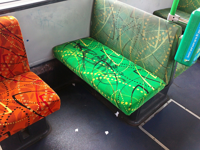 close seats on Yarra trams