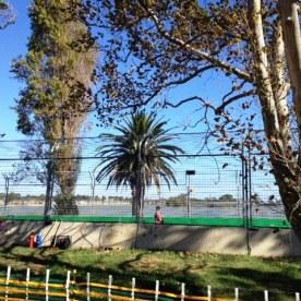 The circuit and the lake at Australian Grand Prix 2013, Albert Park