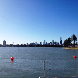 View of Melbourne from Australian Grand Prix 2013, Albert Park