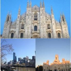 Collage delle mie 3 principali città per tempo vissutoci: Milano, Madrid, Melbourne