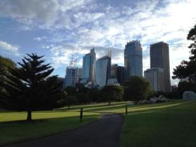 View of Sydney CBD from Botanical Garden