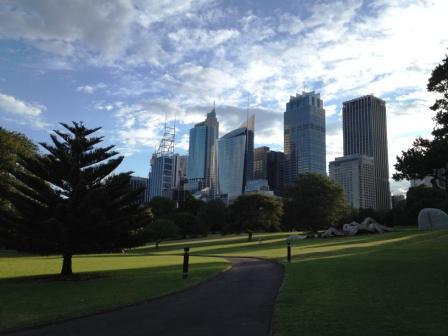 View of Sydney CBD from Botanical Garden