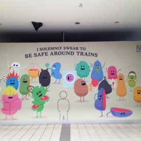 'Dumb Ways To Die' Flinders Station billboard