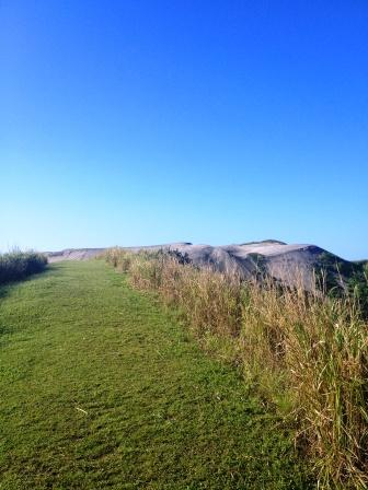 Sigatoka sand dunes: on our way to the top