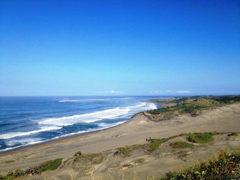 View from Sigatoka Sand Dunes towards the ocean