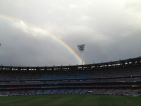 Rainbow at the MCG