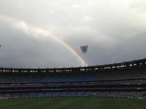 Rainbow at the MCG