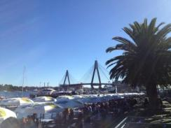 Outside the Sydney Fish Market