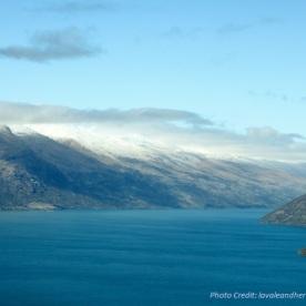 View Lake Wakatipu from above