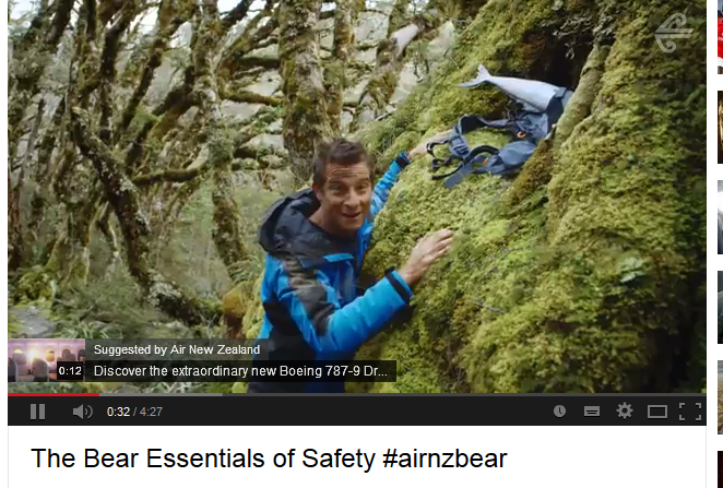 Air New Zealand Safety video #airnzbear