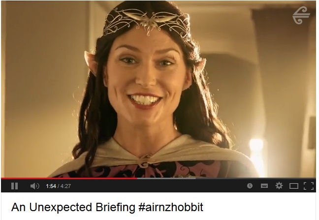 Air New Zealand safety Video Hobbit 2#airnzhobbit