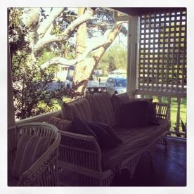 Sofa in the patio @ Arcadia House (Photo Credit: lavaleandherworld.wordpress.com)