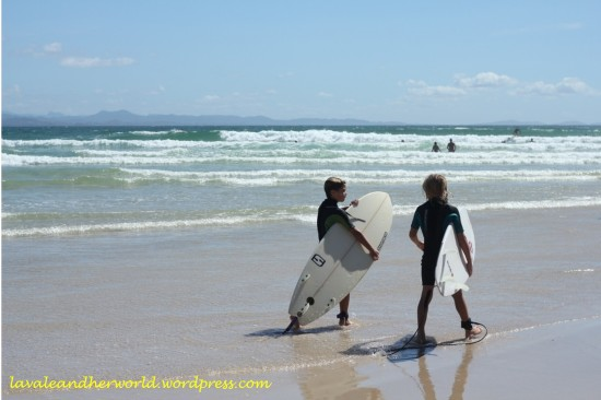 Kids surfing at Byron Bay (Photo credit: lavaleandherworld.wordpress.com)