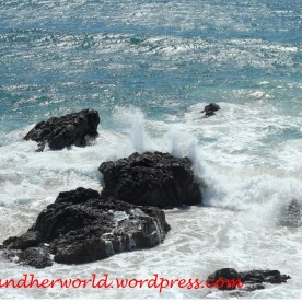 Water crushing on the rocks (Photo Credit: lavaleandherworld.wordpress.com)