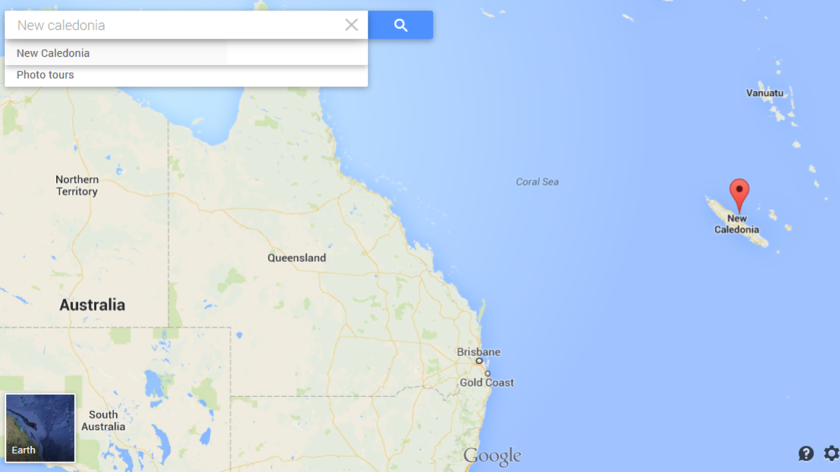 Map New Caledonia & Australia
