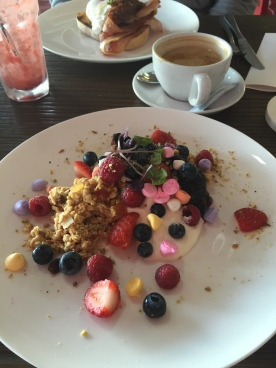 Brekkie at the Funkey Monkey Cafe, Lakes Entrance, Victoria, Australia (Photo credit: lavaleandherworld.wordpress.com)