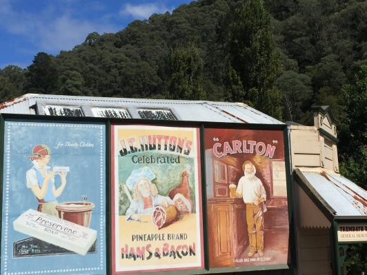Old billboards at Walhalla, Victoria, Australia (Photo credit: lavaleandherworld.wordpress.com)
