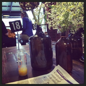 Waiting for our brekkie at The Blessed Bean Wagga Wagga (Photo Credit: lavaleandherworld.wordpress.com)