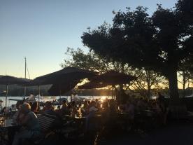 Sunset over Zurich lake at the Pump Station, Zurich (Photo credit: https://lavaleandherworld.wordpress.com)