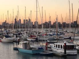 Melbourne at sunset June 2015 (Photo credit: lavaleandherworld.wordpress.com)