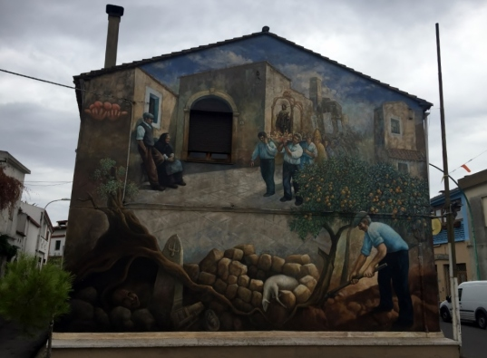 """Murales"", San Sperate (Photo credit: http://www.lavaleandherworld.wordpress.com)"