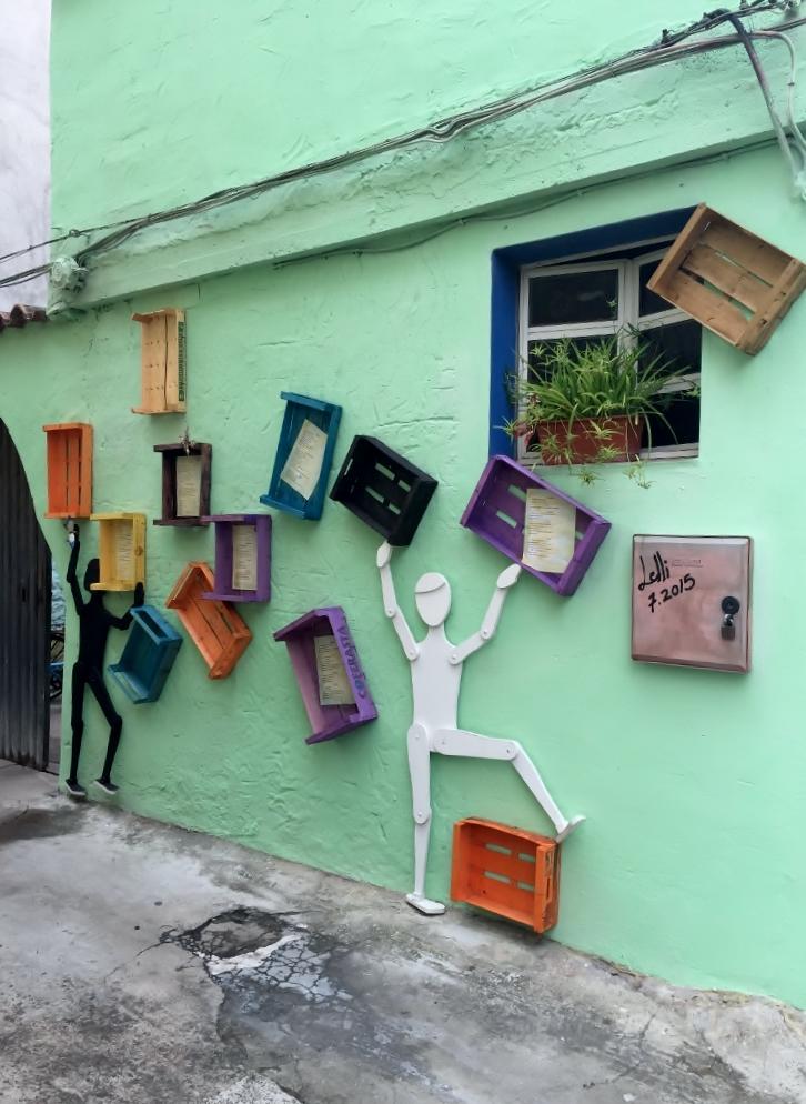 """Murales"" in San Sperate (Photo credit: http://www.lavaleandherworld.wordpress.com)"