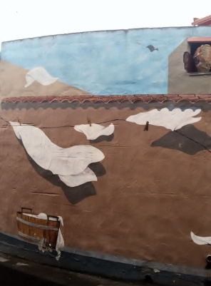 """Murales Panni stesi (Hanging Clothes)"", San Sperate (Photo credit: http://www.lavaleandherworld.wordpress.com)"