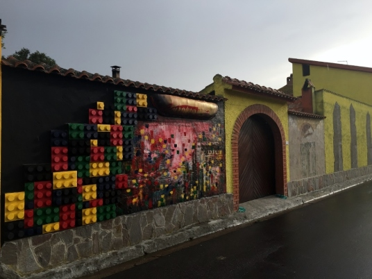 """Murales Lego"", San Sperate (Photo credit: http://www.lavaleandherworld.wordpress.com)"