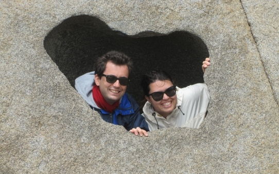 Us at Remarkable Rocks, Kangaroo island (Photo credit: http://www.lavaleandherworld.wordpress.com)