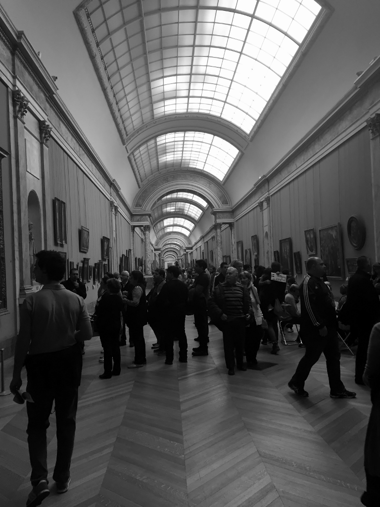 Inside the Louvre Museum, Paris (Photo credit: http://www.lavaleandherworld.wordpress.com)