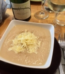 Soup du jour (Cauliflower, cheese and truffle) at L'Affineur affine' fromagerie, Paris (Photo credit: http://www.lavaleandherworld.wordpress.com)