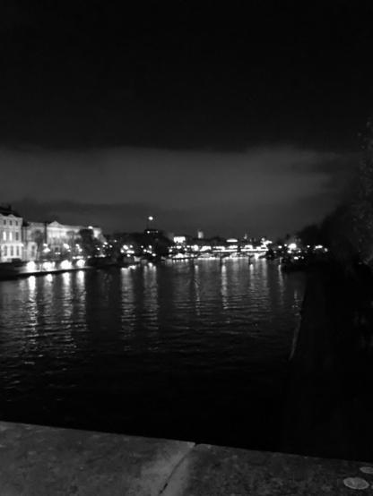 Along the Seine at night, Paris (Photo credit: http://www.lavaleandherworld.wordpress.com)