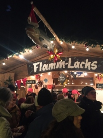 Flamm Lachs at the Xmas market at Bellevue, Zurich (Photo credit: http://www.lavaleandherworld.wordpress.com)
