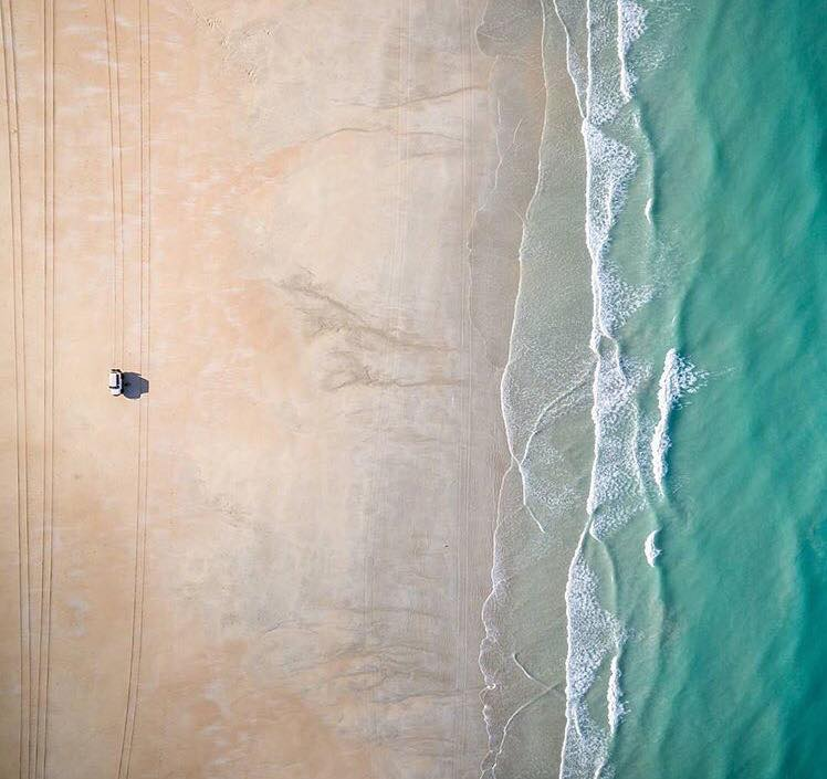 Aerial view of Cable Beach (Source - Australia Instagram account)