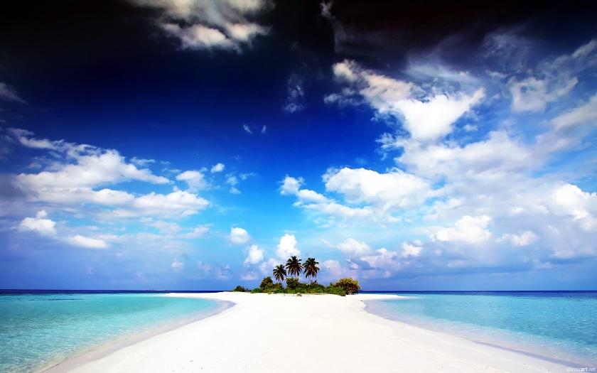 Beautiful paradise island beach Source HDWallpaperbackgrounds