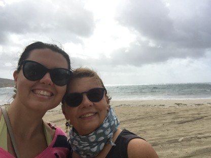 Me & my mom walking on the beach, Sardegna (Photo credit: https://lavaleandherworld.wordpress.com)
